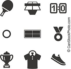 Table Tennis Icons