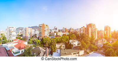 Providencia commune in Santiago - Panoramic view of the...