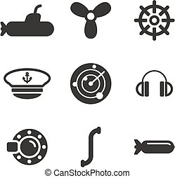 Submarine Icons - This image is a illustration and can be...