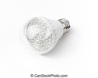 LED Light Bulb - LED light bulb isolated on white background