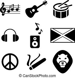 Reggae Icons - This image is a illustration and can be...