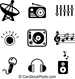 Radio Station Icons - This image is a illustration and can...