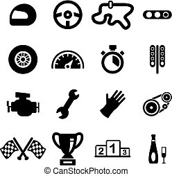 Racing Icons - This image is a illustration and can be...