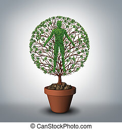 Tree Of Life - Tree of life symbol as a plant growing from a...