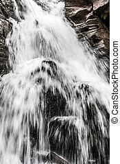 Kaskady Rodla waterfall on Biala Wiselka river in Beskid...