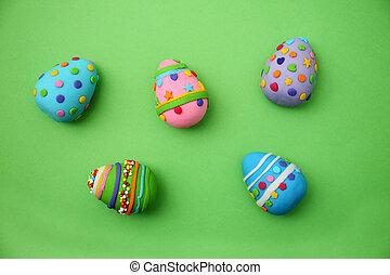 mastic, huevos, hecho, Pascua