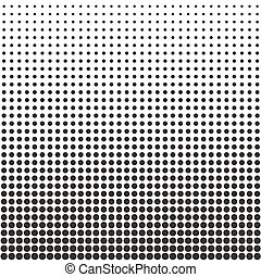 Halftone dots pattern. Black dots on white background