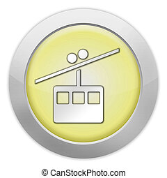 Icon, Button, Pictogram Aerial Tramway - Icon, Button,...