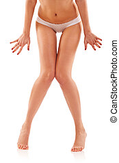 shy woman's sexy legs - picture of a shy woman's sexy legs ,...