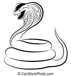 Snake, Cobra - Cobra in the form of a tattoo