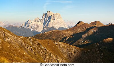 Evening panoramic view of mount CPelmo - Evening panoramic...