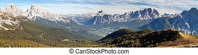 Panoramic view of dolomiti around Cortina d Ampezzo and...
