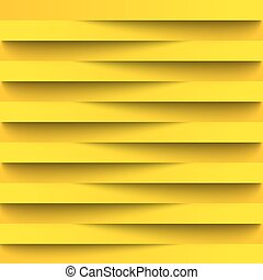 Infographics. Background, wallpaper for web design from realistic paper stripes shading. Light lines. Yellow color in combination with black. Overlapping strips of each other