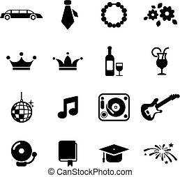 Prom Icons - This image is a illustration and can be scaled...