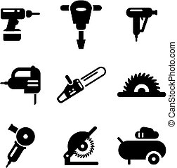 Power Tools Icons - This image is a illustration and can be...