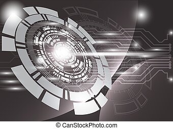 gray technology background abstract digital tech circle