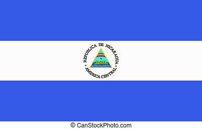 flat nicaraguan flag