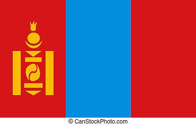 flat mongolian flag