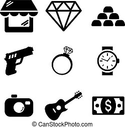 Pawn Shop Icons - This image is a illustration and can be...