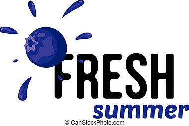 Blueberry simple background. - Fresh summer product sale...