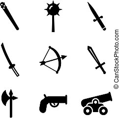 Old Weapons Icons - This image is a illustration and can be...