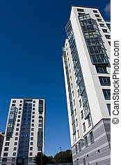 Urban Regeneration - Abstract Architecture of hi rise tower...
