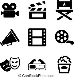 Movie Icons - This image is a illustration and can be scaled...