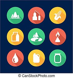 Moonshine Icons Flat Design Circle - This image is a...
