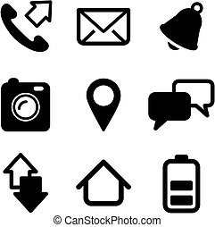 Mobile Phone Icons - This image is a illustration and can be...