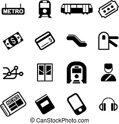 Metro Or Subway Icons - This image is a illustration and can...