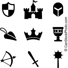 Medieval Icons - This image is a illustration and can be...