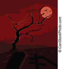 Graveyard vector red version