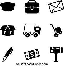 Mail Man Icons - This image is a illustration and can be...