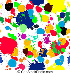 ink splats pattern in colors