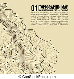Topographic map background with space for copy .