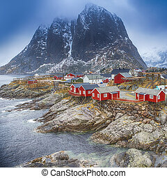 Travel Concepts and Ideas. Traditional Fishing Hut Village...