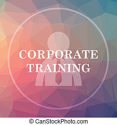 Corporate training icon. Corporate training website button...