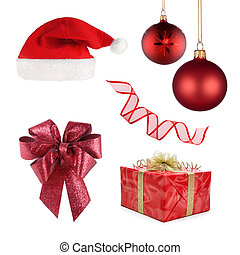 Christmas set of different objects - Set of different...