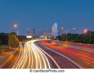 Skyscrapers in Downtown Dallas, Texas, USA