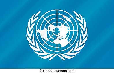 un - United nations flag illustration.