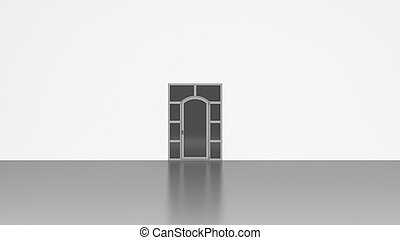 3D Door isolated on white background