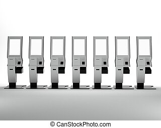 3D Rendering of Touch Screen Vending Machine