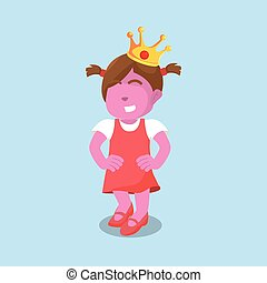 pink girl with crown