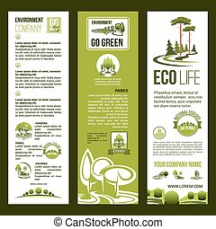 Vector banners for eco nature environment company