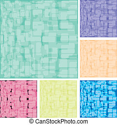 Set of abstract colorful spotted backgrounds, part 16, vector illustration