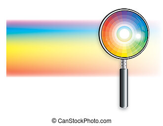 Rainbow Under Magnifying Glass