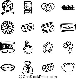 Lottery Icons Freehand - This image is a illustration and...