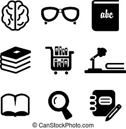 Library Icons - This image is a illustration and can be...
