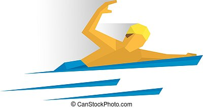 Swimmer in the water