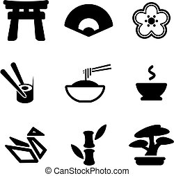 Japanese Culture Icons - This image is a illustration and...